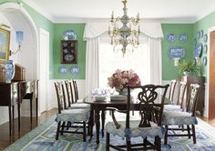 Love green with blue and white--Diamond & Baratta toned down is fabulous to my taste