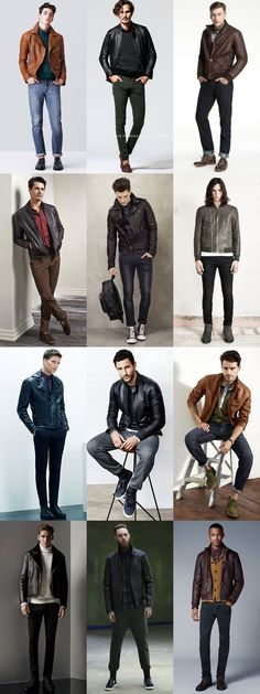 Men's Transitional Jackets For Autumn 2014: The Leather Jacket Lookbook Inspiration
