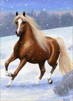 this chestnut & flaxen arabian is feeling spirited in the crisp, cold air of a winter day. Beautiful Photos Of Nature, Beautiful Horses, Beautiful Paintings, Unicorn Pictures, Horse Pictures, Zoo Nursery, Oil Pastel Colours, Winter Horse, Horse Artwork