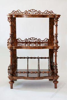~ Victorian Burr Walnut Whatnot ~ antiques-atlas.com
