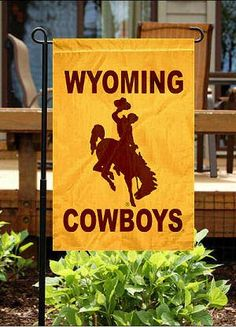 Wyoming Cowboys House Flag 14.00 @Dawn Cameron-Hollyer Skinner