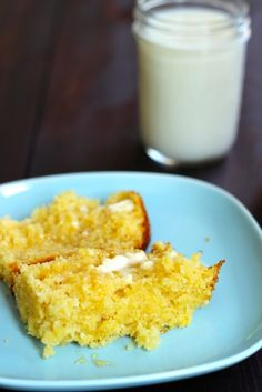 Milk and Honey Cornbread - Bake up a batch of this Milk and Honey Cornbread. It's lightly sweetened and delicious for breakfast or the bread basket.