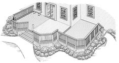 Eplans Deck Plan - Alcoves and Angles from Eplans - House Plan Code HWEPL74938
