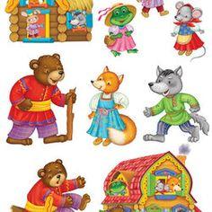 "Парсонажи для сказки ""Теремок"" Flannel Board Stories, Activity Bags, Toddler Learning, Matching Games, Kids Bags, Nursery Rhymes, Cabana, Games For Kids, Winnie The Pooh"