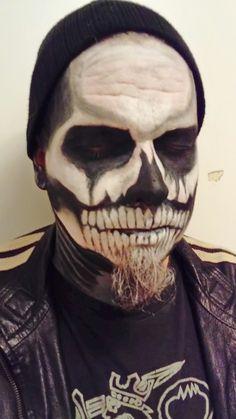 Skull makeup for men.