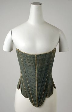 Corset, Date: third quarter 18th century Culture: American Medium: flax, cotton, leather, wood