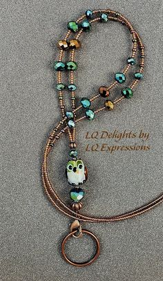 Lanyard Necklace, Diy Necklace, Necklaces, Beaded Lanyards, Beaded Jewelry Designs, Etsy Jewelry, Jewellery, Jewelry Model, Fall Jewelry