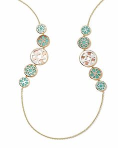 Ippolita - 18k Gold Polished Rock Candy Cutout Linear Station Necklace