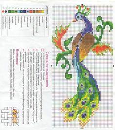 Жар-птица, схемы для вышивки бисером и крестиком — Рукоделие