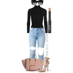 Untitled #2252 by stylebydnicole on Polyvore featuring T By Alexander Wang, Le Silla, STELLA McCARTNEY and NARS Cosmetics