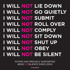 If you are experiencing domestic violence, support and assistance is available. It is sometimes hard to tell your story and ask for help - but remember no one should have to live in fear. Talk with someone you trust or contact one of the support services listed at www.intimo.com.au/endthesilence