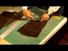 How To Make a Leather Messenger Bag Part 2 of 7 - YouTube