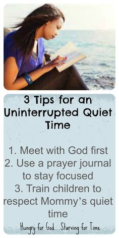If you're a mom with young children, or an older mom with an empty nest, it's still a struggle to spend uninterrupted time with God. Double click on the image to read the 5-minute devotion, Hungry for God: 5 Tips for an Uninterrupted Quiet Time