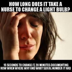 How Long Does it Take a Nurse to Change a Light Bulb?  We all know the truth!