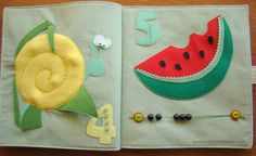 Snail and marble quiet book page