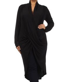 Love this Black Drape Tunic - Plus by J-Mode USA Los Angeles on #zulily! #zulilyfinds