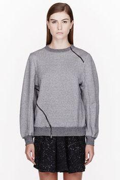 Grey Heavy Jersey Sweater Tuca Mandolin Sweatshirt
