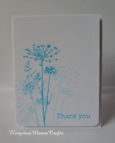 images inkadinkado meadow stamp   ink and did some quick stamping for a super fast cas thank you card