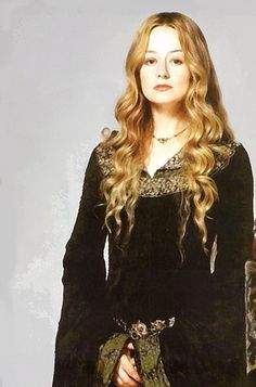 Eowyn in LOTR - it's kind of a running joke that her wardrobe was modeled on my SCA one.