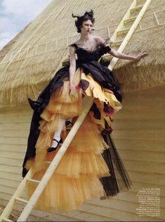 Little Black Salmiak: Karlie Kloss by Tim Walker for Vogue India November 2010