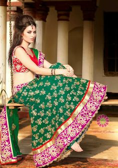 Emerald Green Lehenga Choli just for Rs.8095