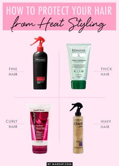 How to Protect Hair From Heat Styling //#beautytip #hair