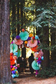 colorful wedding decor