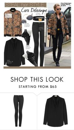 """""""Steal Her Style-Cara Delevingne"""" by kusja ❤ liked on Polyvore featuring Chanel, Topshop, Yves Saint Laurent, Stealherstyle, caradelevigne, saintlaurent and celebstyle"""