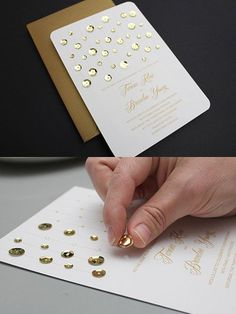 Glitz up your wedding invites with this DIY.