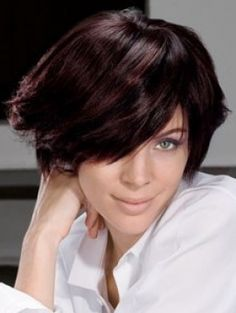 hair cut trends - dark brown