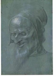 """Head of a apostle"" by Albrecht Durer (1471-1528, Germany)"