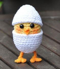 pollito y huevo