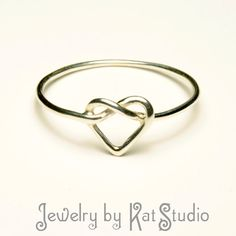 Knot Heart Ring - Infinity Heart - Sterling Silver 925. $19.00, via Etsy.