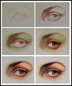 Draw Eyes Realistic Drawing a realistic eye with pastel pencils. Colour Pencil Shading, Color Pencil Art, Art Sketches, Art Drawings, Crayon Drawings, Pencil Drawings Of Animals, Realistic Eye Drawing, Pastel Portraits, Pastel Pencils