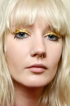 The Coolest New Ways To Line Your Eyes #refinery29  http://www.refinery29.com/2016/03/105701/eyeliner-styles-fashion-week-trends#slide-3  The only thing better than gilded lids? Penciled-on bottom lashes (and maybe also that septum ring) at Leitmotiv. We don't know about you, but we're adding this to our beauty bucket list, like, immediately....