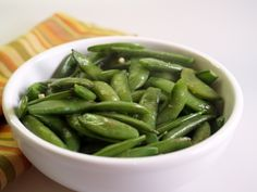 Made with sugar snap peas, butter, olive oil, garlic, salt, black pepper | CDKitchen.com
