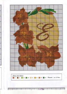 fleur - flower - fleur de noël - point de croix - cross stitch - Blog : http://broderiemimie44.canalblog.com/