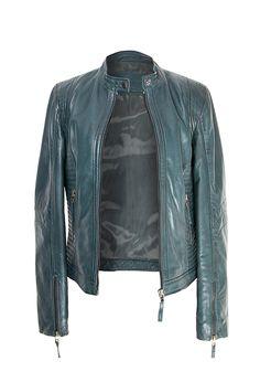 Emerald Leather jacket . Zerimar Spain