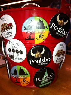 Magnets and pins for Poulsbo
