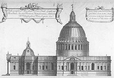 The Greek Cross Design    In the aftermath of the Great Fire of London, part of the ruins of Old St Paul's were patched up as a temporary cathedral. The structure, however, was in a very bad way, and in May 1668, following a fall of masonry, Wren was invited to submit proposals for a new cathedral.