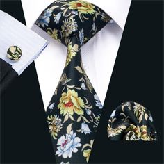 FA-1239 New Arrival Fashion Print Ties For Men High Quality Brand Design Necktie Handkerchief Cufflinks Set For Wedding Party
