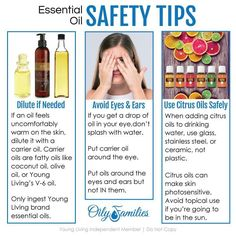 Essential oil safety tips Essential Oil Safety, My Essential Oils, Young Living Essential Oils, My Essentials, Citrus Oil, Safety Tips, Diy Hairstyles, Good To Know, Health And Wellness