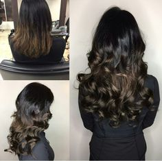 Precision styling. Hair transformation.  Hair extensions.  Single loop. Long hair. Curls. Waves. Brunette. Hair Transformation, Hair Extensions, Curls, Waves, Long Hair Styles, Beauty, Weave Hair Extensions, Extensions Hair, Human Hair Extensions