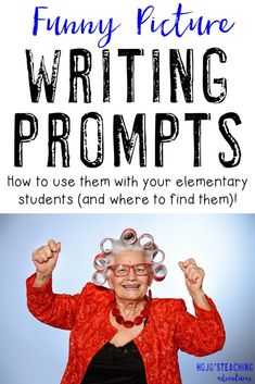 Funny Picture Writing Prompts can be a LOT of fun in your and grade classroom or homeschool! HUGE collection of funny picture prompts that you can use with your students at ANY time. So you find grading tips and more! Writing Prompts For Writers, Picture Writing Prompts, Narrative Writing, Writing Lessons, Teaching Writing, Kids Writing, 6th Grade Writing Prompts, 4th Grade Journal Prompts, Writing Ideas