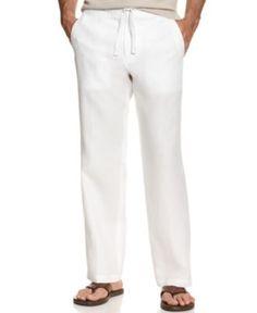 Tasso Elba Pants, Linen Drawstring Pants - Mens Pants - Macy's Tall Pants, Men's Pants, Dress Pants, Linen Drawstring Pants, Vogue, Linen Trousers, Plus Size Activewear, Baby Clothes Shops, Comfy Clothes