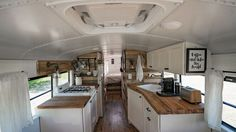 It Used To Be a School Bus … Now It's a Cozy Loft On Wheels!