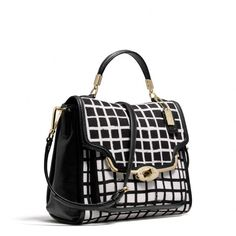 Coach :: MADISON SMALL SADIE FLAP SATCHEL IN GRAPHIC PRINT FABRIC