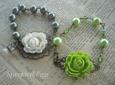 Vintage Inspired Jewelry Making - Flower Bracelets | Flickr - Photo Sharing!