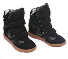 los angeles 543ac 12606 Isabel Marant Bekket High top Suede Black Sneakers High Top Wedge Sneakers,  Suede Sneakers,