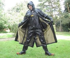 Raincoats For Women April Showers Heavy Rubber, Black Rubber, Firefighter Boots, Latex Costumes, Fishing Boots, Green Raincoat, Rubber Raincoats, Rain Gear, Raincoats For Women